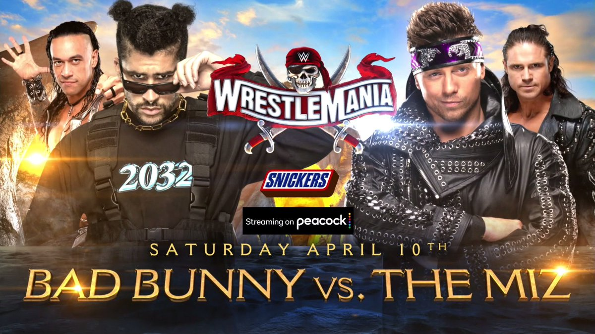 Braun Strowman vs Shane McMahon and The Miz vs Bad Bunny Annouced For WrestleMania 37