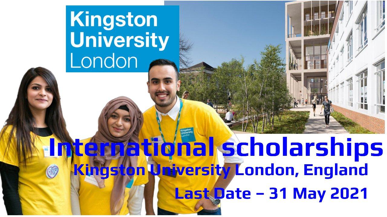 International scholarships by Kingston University London, England
