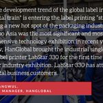 Image for the Tweet beginning: Zhao Jiangwul from HanGlobal shares