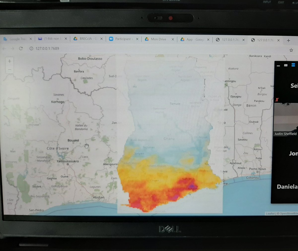 test Twitter Media - Day 7 of #2021ImpactTrainingWorkshop is underway. BRECcIA researchers with expertise in #Rprogramming have given colleagues a crash course on displaying their data.   A quick example from hydrologist Bernard Minoungou (@Benmin226) of rainfall data in Ghana using colleague's data: https://t.co/EfEdjrh3gD