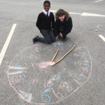 Year 4 have been continuing their work with time, starting to look at a.m., p.m. and 24-hour time. They drew clocks on the playground using chalk, with sticks as the hands! The children love learning outside … it's active, it's fun and it's healthy! #copthorneprep
