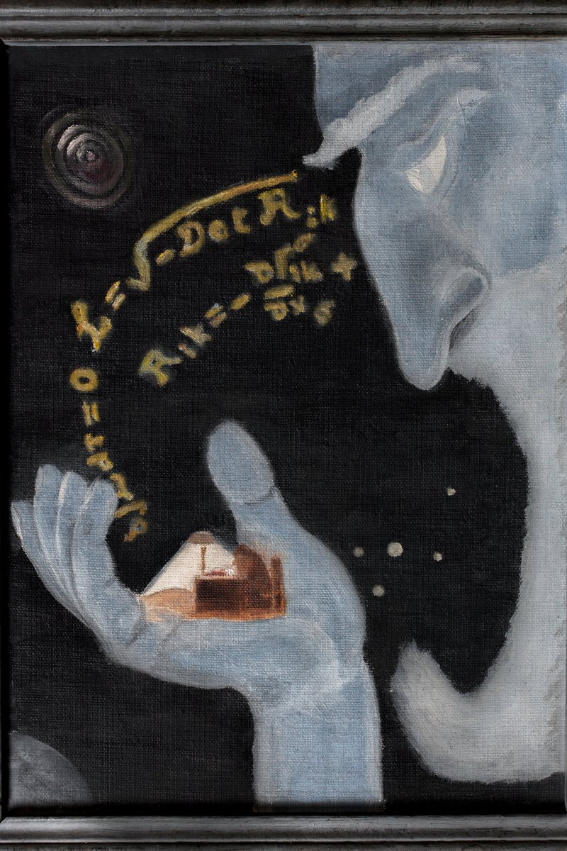 test Twitter Media - STP, DIAS : Celebrating Synge Week - 23-30 March 2021. Day One - 'God & Schrodinger' (1947) Painting by J.L. Synge https://t.co/DvrLw9SwbQ