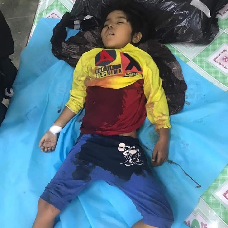 On the evening of March 23, a 7-year-old boy was shot dead by terrorists in the Mandalay, Aung Pin Lal area 😭#WhatsHappeninglnMyanmar #feb23coup https://t.co/EavlbeT1NW
