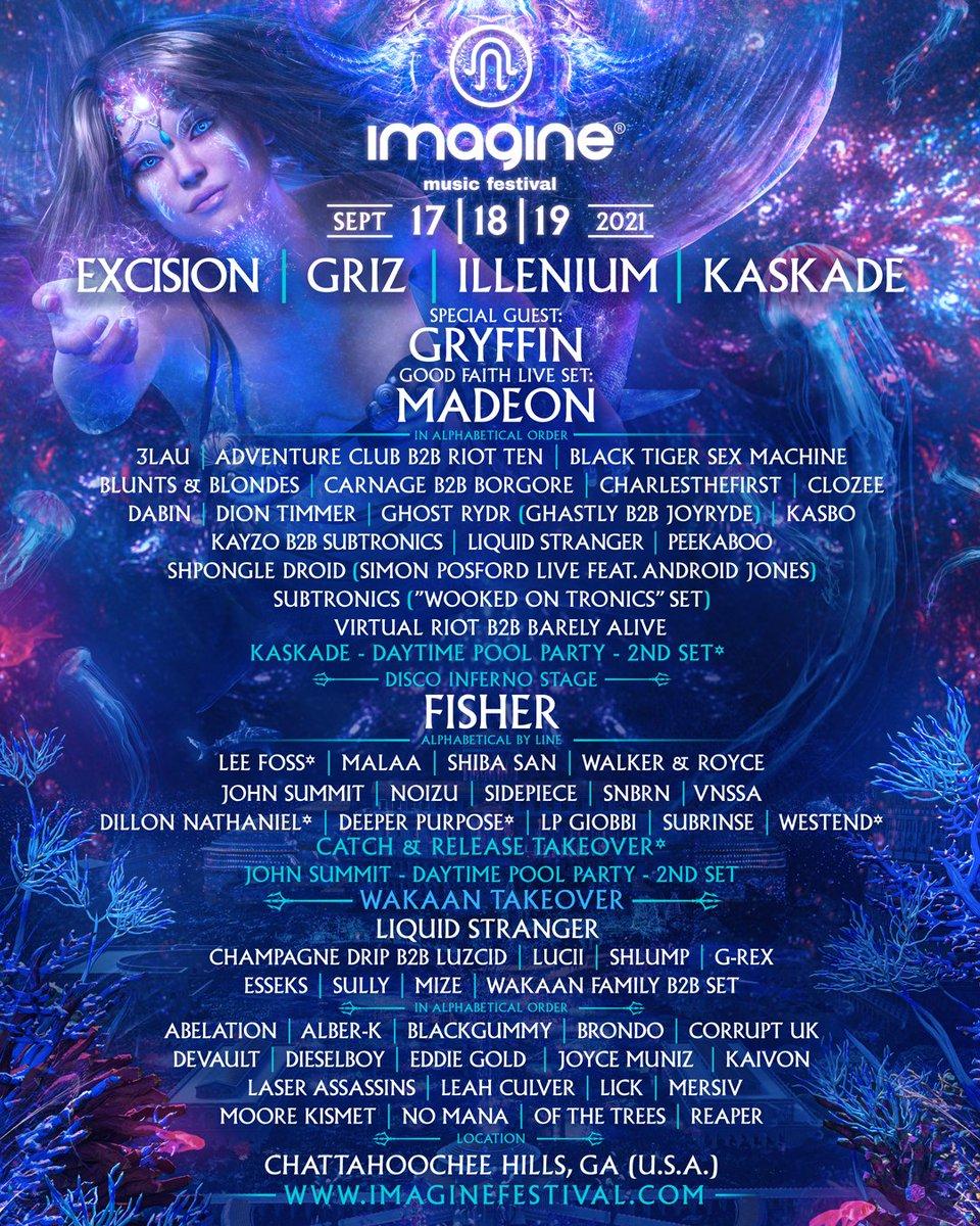 Imagine Music Festival 2021 lineup