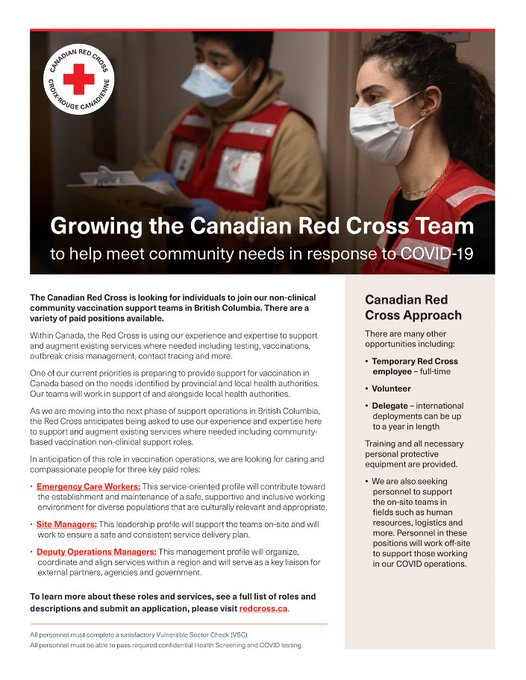 Canadian Red Cross Team