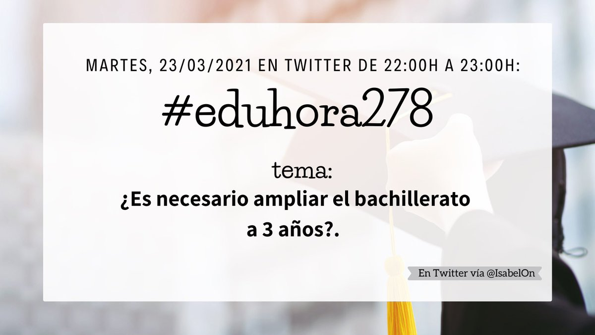 En mi opinión no. Si seguimos retrasando la educación acabáramos empezando a trabajar con 40 años. El que quiere estudiar puede sacarlo en 2 años. #eduhora278