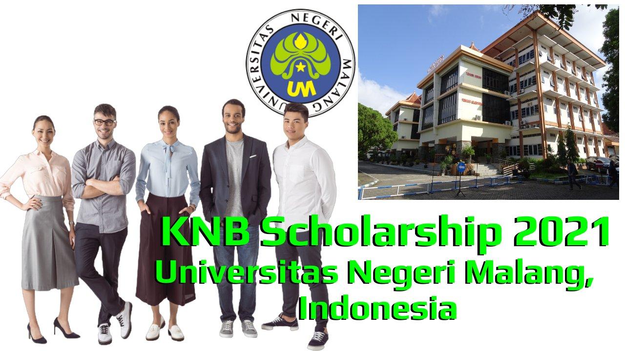 KNB Scholarship 2021 at Universitas Negeri Malang, Indonesia