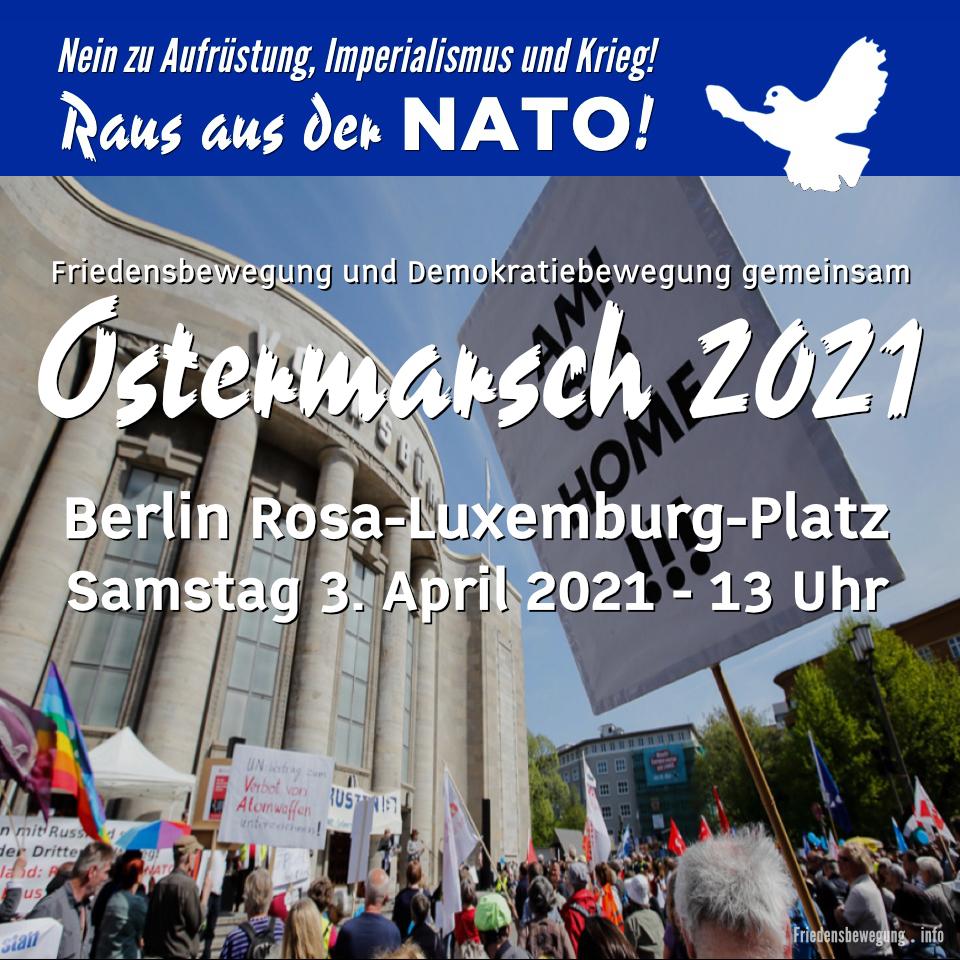 Ostermarsch 2021 - Friedensbewegung und Demokratiebewegung gemeinsam