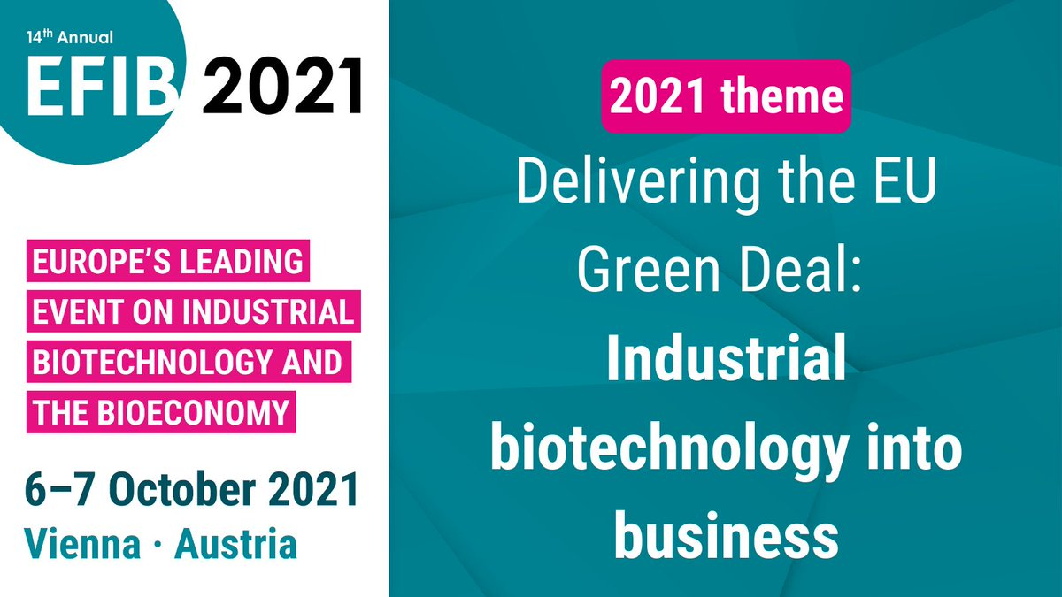 "test Twitter Media - Our 2021 theme will be ""Delivering the EU Green Deal: Industrial Biotechnology into Business""!   Join us on 6 & 7 October 2021 in Vienna to discuss how bio-based #innovation can contribute to implementing the EU Green Deal and the UN #SDGs 🌱   Learn more: https://t.co/W4iQM3b25f https://t.co/QFomfzpZIi"