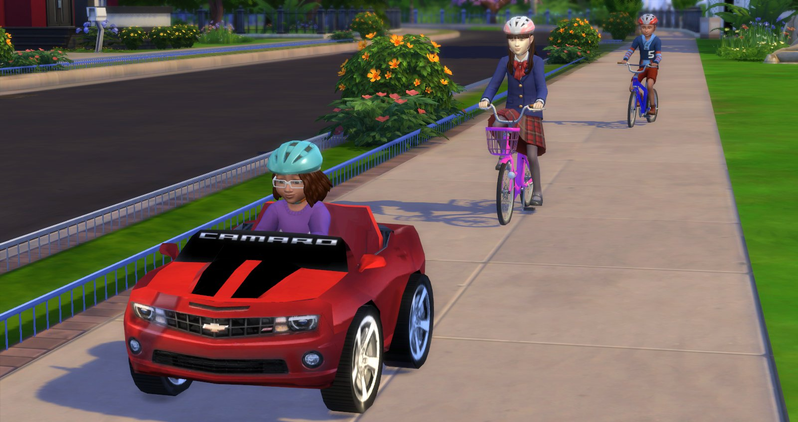 Toddler tricycle and car