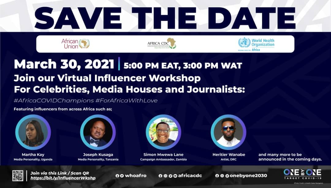 test Twitter Media - Virtual influencer workshop for African celebrities, media houses, and journalists: Shaping #COVID19 response through accurate information dissemination March 30, 2021 | 5 PM EAT, 3 PM WAT, 10 AM EST | Register here: https://t.co/d2QMdI9v60 https://t.co/25NpiATMRe