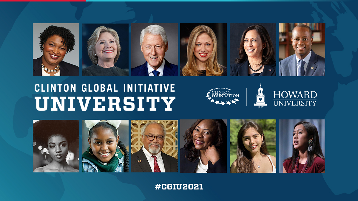 NEW: Join President @BillClinton, @ChelseaClinton, @VP Kamala Harris, @staceyabrams, @kylekorver, and other global leaders along with students from around the world for @CGIU 2021, in partnership with @HowardU. Learn more:
