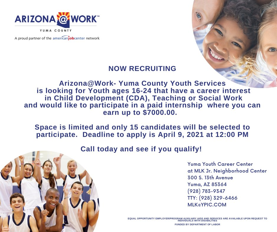 Arizona Work Yuma Youth Career Center Yumayouthcenter Twitter