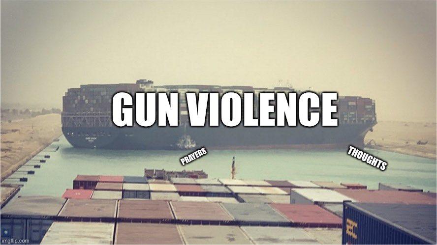 gun violence, thoughts and prayers