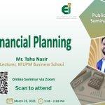 Image for the Tweet beginning: #KFUPM KIKX webinar Financial Planning  Meeting link: