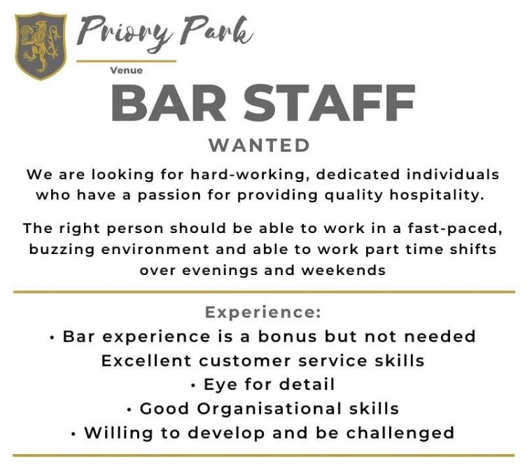 test Twitter Media - Looking for bubbly, enthusiastic staff who can work weekends & evenings. Role includes:  Working behind our bars Table service  Cellar management (training given)  Housekeeping  Must be over 18 Please contact: venue@maccrugby.co.uk #job #barwork #vacancy #macclesfield #rugbyclub https://t.co/eelJMbKtjH