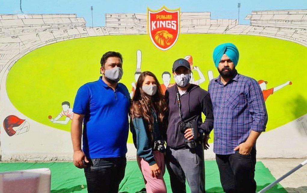 #ThePKboys with #ThatPKgirl ;) #throwback to 1st @PunjabKingsIPL event. #Ludhiana #PunjabKings #PBKS #March4
