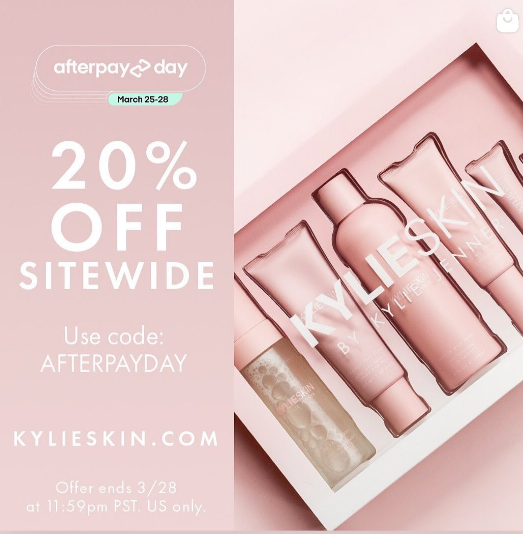 AfterPay Day starts now!! 20% off sitewide at https://t.co/n1uvmPB0xY https://t.co/gsLPZSixQe