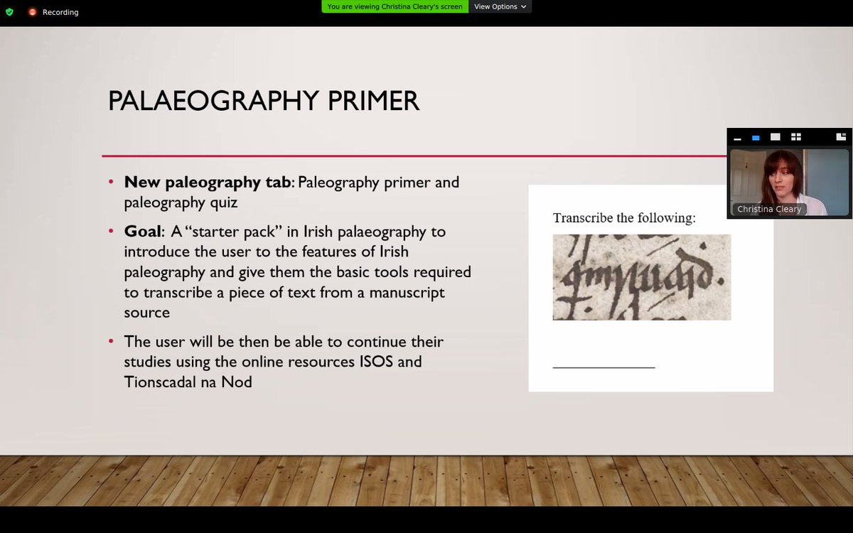 test Twitter Media - A starter pack in Irish paleography - to introduce the user and give them the basic tools to transcribe a piece of text from a manuscript source - an exciting element of @earlymodirish currently in development by @CClearych #DIASdiscovers https://t.co/AndfOa7Imr