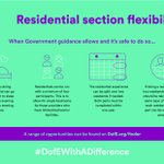 We've temporarily updated our Residential section to enable opportunities to go ahead when it's safe to do so. #DofEWithADifference  Read the flexibilities in full: https://t.co/Op2Rn6iEpH