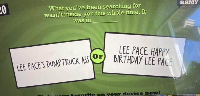 Happy birthday lee pace