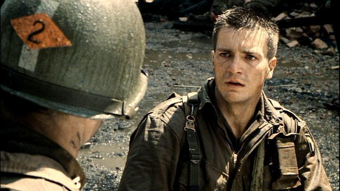 Happy Birthday to Nathan Fillion, here in SAVING PRIVATE RYAN!