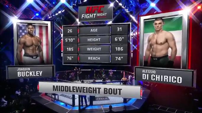 Estelares Segundo encuentro de la noche Buckley vs Di Chirico GG Di Chirico KO Kick (R1 2:12) #UFC  #UFCFightnight  #UFCFightIsland7 #UFCCR14Mx https://t.co/0NDU4uZz4z