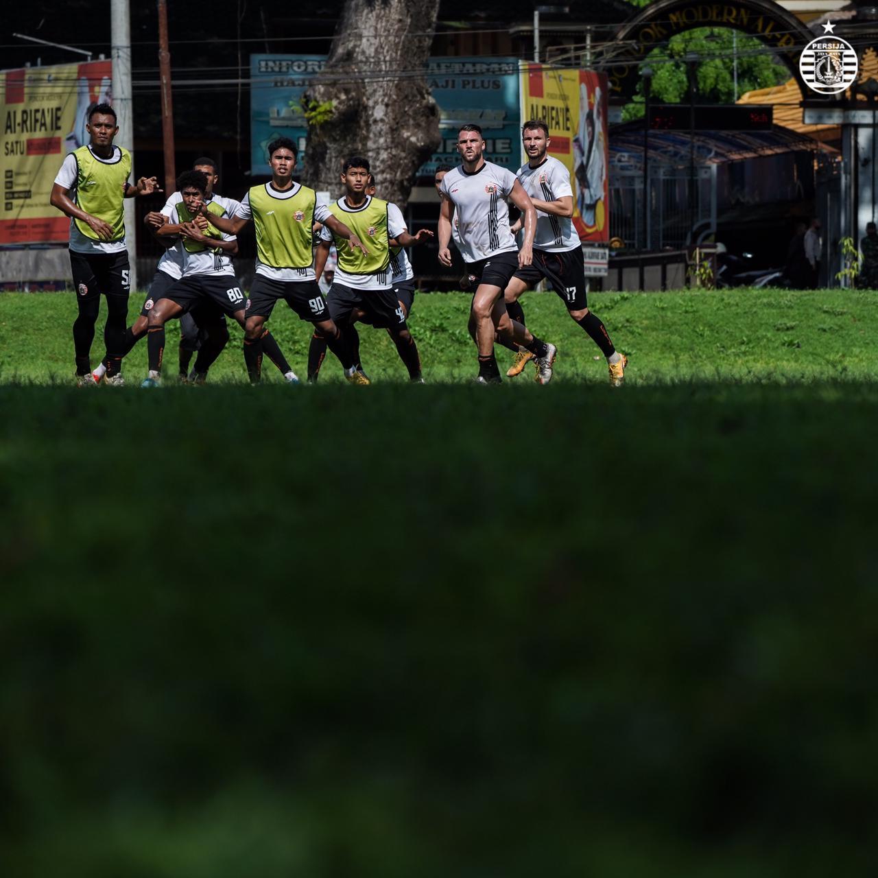 Latihan Pemain Persija jelang laga melawan Borneo FC