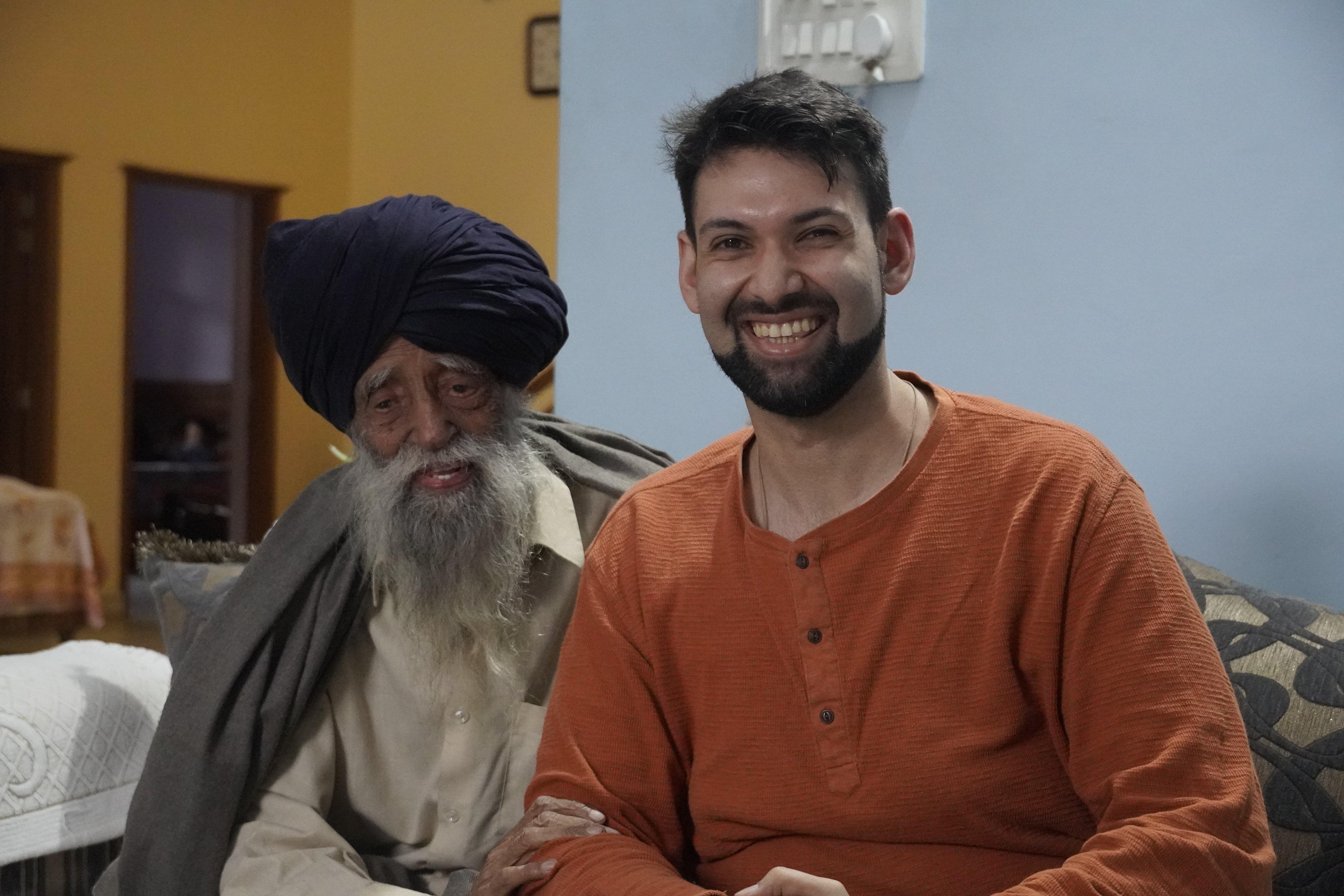 Fauja Singh and Ojaswwee Sharma
