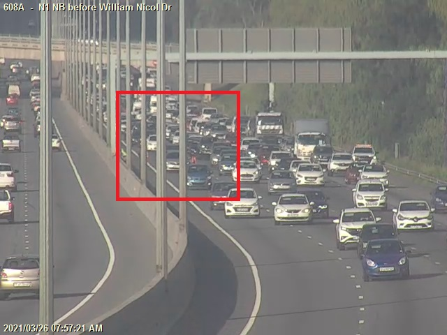 In Fourways there's been an accident on the N1 North near William Nicol slowing down traffic JHBTraffic