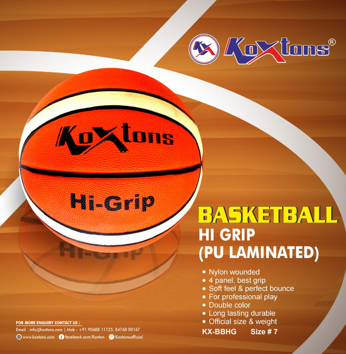 Bring your game to the next level with the KOXTONS HI GRIP (PU LIMINATED )BASKETBALL. This basketball gives you the advantage of aligning your skills and dedication with a long-lasting piece of equipment that is specifically designed to improve your handling and ball control. https://t.co/6GG1YSFNHm