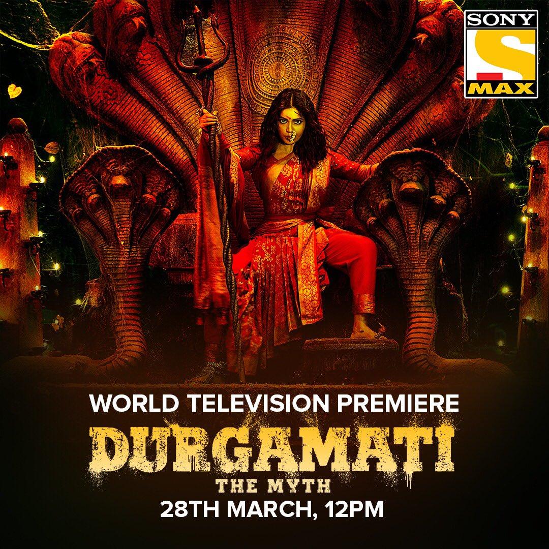 The intriguing story of Durgamati is all set to unfold! Watch the World Television Premiere of 'Durgamati' on 28th March at 12 PM only on @SonyMAX . #DurgamatiOnSonyMAX  @TSeries @Abundantia_Ent @ashokdirector2  @bhumipednekar @ArshadWarsi @Jisshusengupta @MahieGillOnline https://t.co/jjNEtB5Jlx