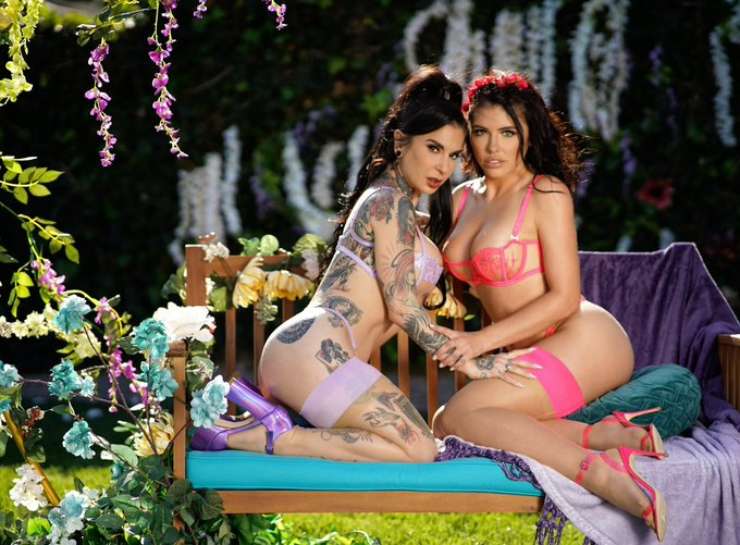 2 pic. It's almost time!! Who's rdy to watch @JoannaAngel and I water the flowers... and by flowers I