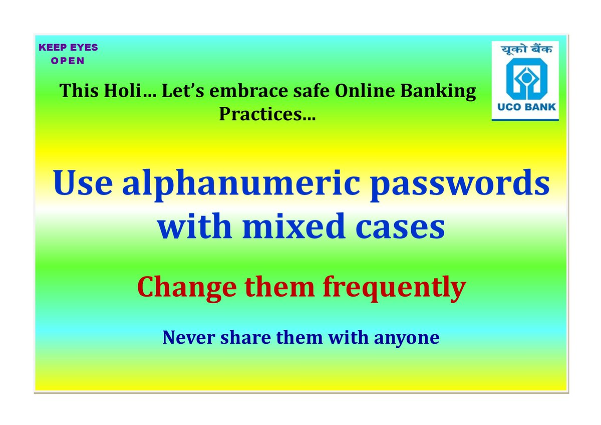 Enjoy the festivities while keeping fraudsters at bay. Use strong passwords. Be Cyber Safe KeepEyesOpen https t