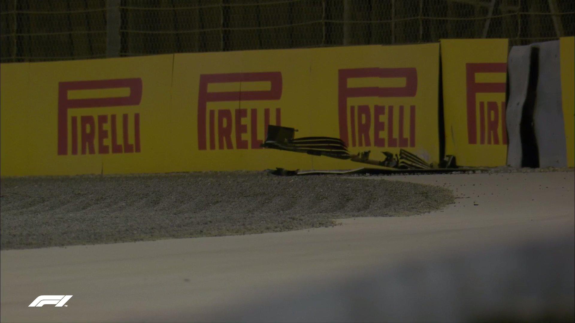 Skrzydło Kimiego Raikkonena, FP2 przed GP Bahrajnu 2021