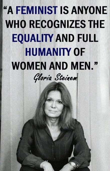 Happy 87th birthday to Gloria Steinem!