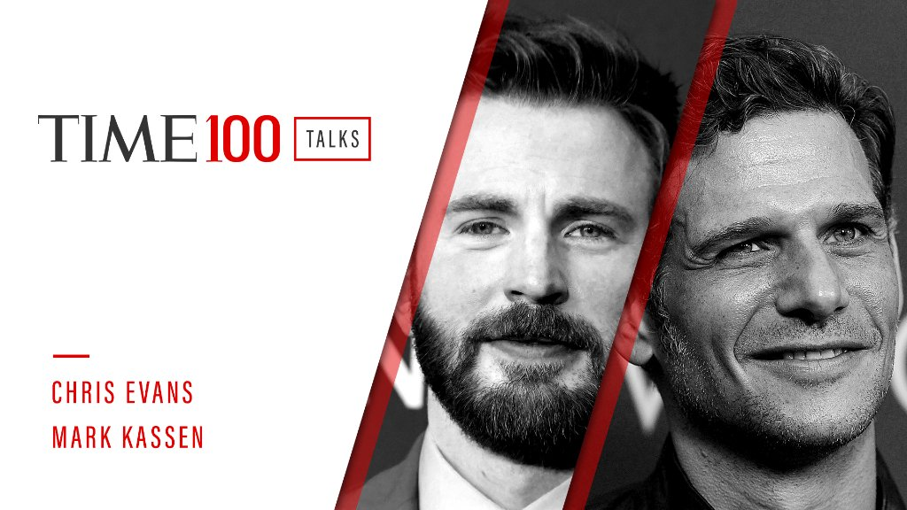 Join us for a live #TIME100Talks featuring @ChrisEvans and @MarkKassen starting in one hour. Register now: https://t.co/pxmzcGjjA2 https://t.co/Aa4lgO9vGY