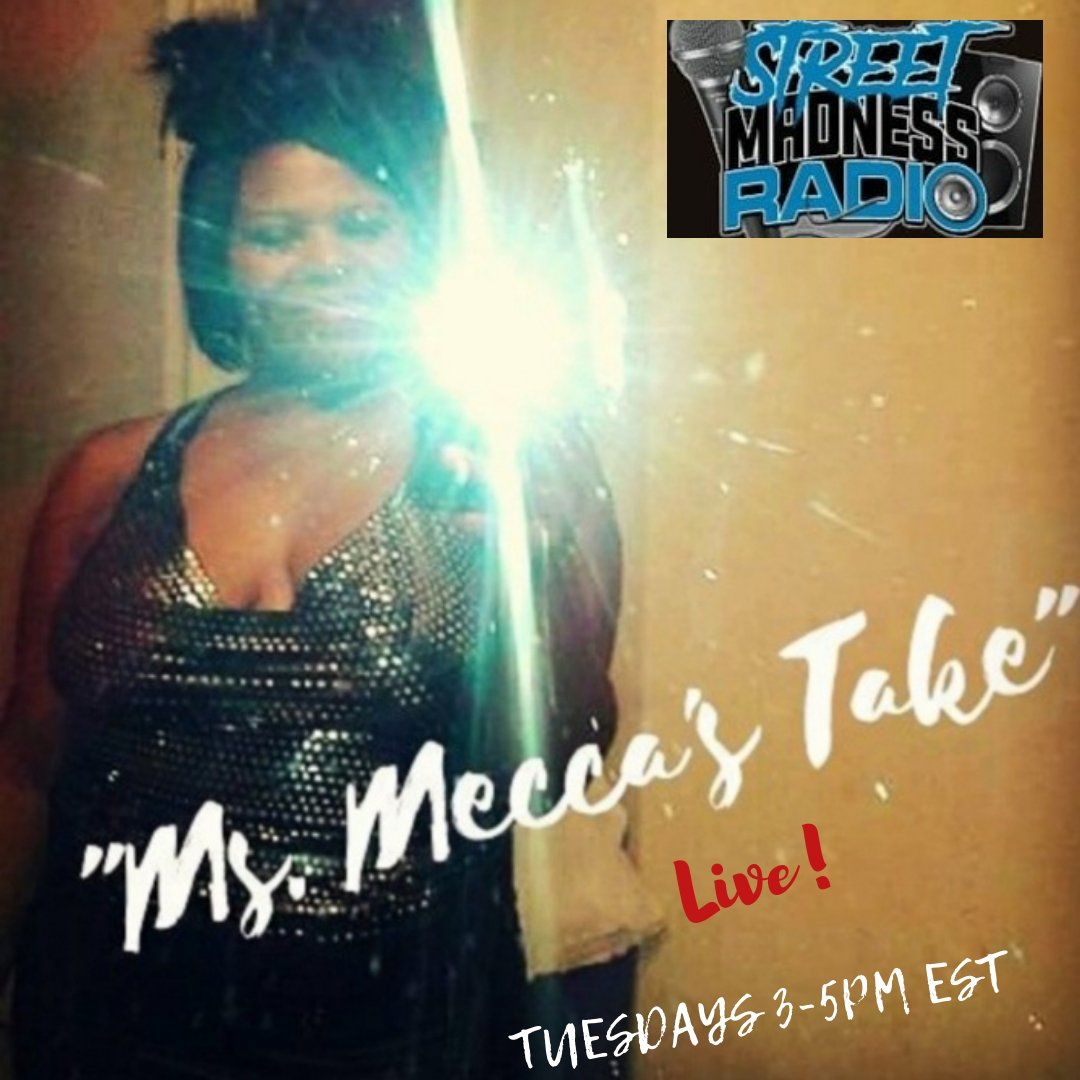 #MsMeccasTake😘💨 #Live💃🏽 on @streetmadnessradio 2pmCst/3pmEst3❣ #DontMissIt💋💨 https://t.co/RSNhffHU3c