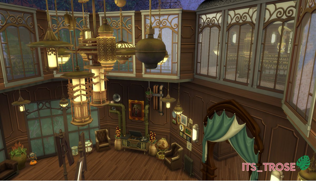 #Geek 🤓 Awesome of the Day ⭐ ➡️ #Steampunk ⚙️ Interiors on #TheSims4 @TheSims #Videogame 🎮 via @Its_Trose #SamaGames 🕹️ #SamaGeek 🧐  ➡️ View More #SamaCollection 👉 https://t.co/Kugls40kPu