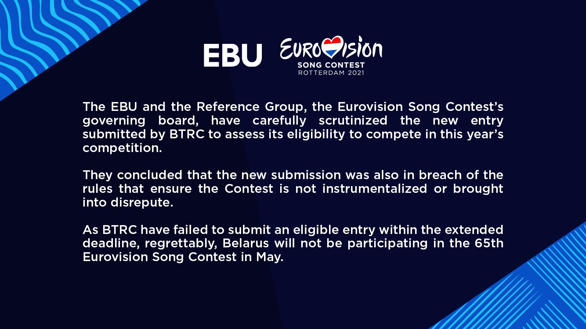 EBU-uttalande
