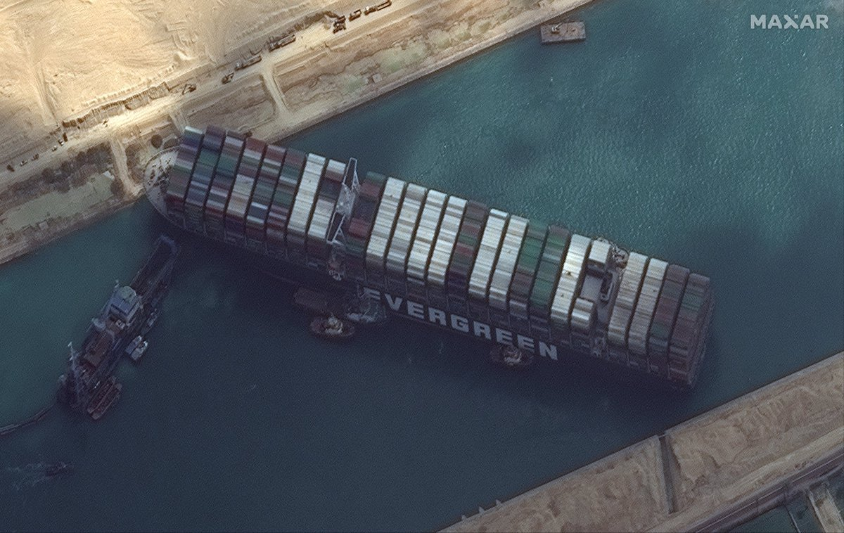 There are 20.000 containers stuck in the desert of Egypt. That's a lot of consumption in Europe delayed.