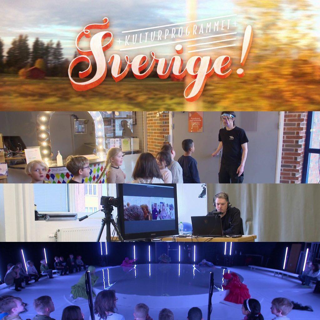 Ikväll lördag kan ni se ett reportage i SVT-programmet Sverige! om hur vi jobbar med scenkonst i dessa tider. SVT1 kl. 19, 27/3. Hittas även på SVT Play.   Bilder: Sverige! @SVT #scenkonst #scenkonstförbarnochunga #dans #vgrkultur #regionteaterväst #häxor #svt #svtsverige #vgr https://t.co/u5y0DWRtal