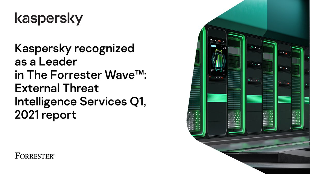 """Kaspersky Italia on Twitter: """"We're thrilled to announce that we've been recognized as a Leader in the recently published @forrester Wave External Threat Intelligence Services Q1, 2021 report >> https://t.co/MC8h2djomr #ThreatIntelligence #Cybersec #"""