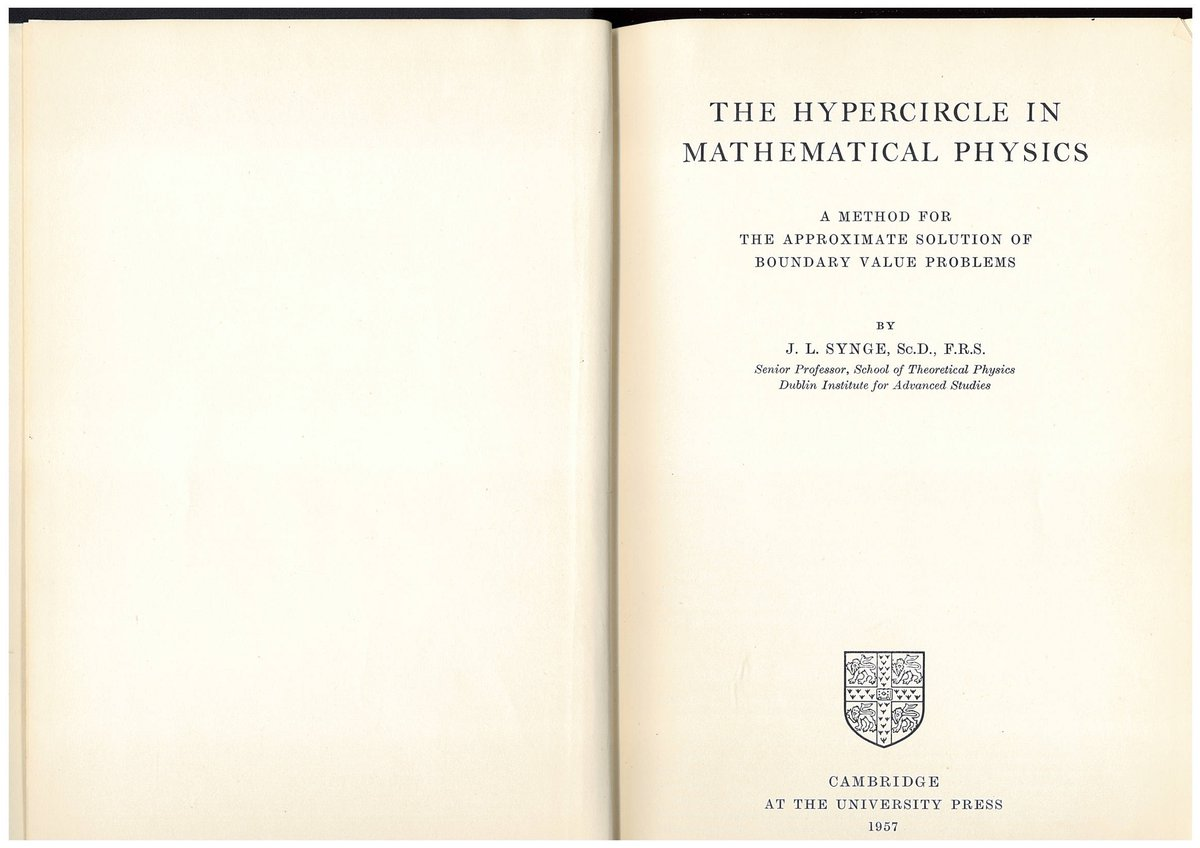 test Twitter Media - STP, DIAS : Celebrating Synge Week - 23-30 March 2021. Day Five - Synge's main lines of work were in general relativity and classical physics, but he also worked on various other topics including the hypercircle method in function space. https://t.co/CJoWdfIcFL