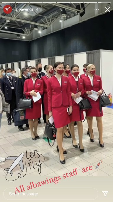 test Twitter Media - Albawings Albanian airline crew were vaccinated in Belgrade today as part of Serbia's mass free vaccination push, which saw thousands of people from neighboring countries cross the border to receive their first shots. https://t.co/lmWS0Ij8VI