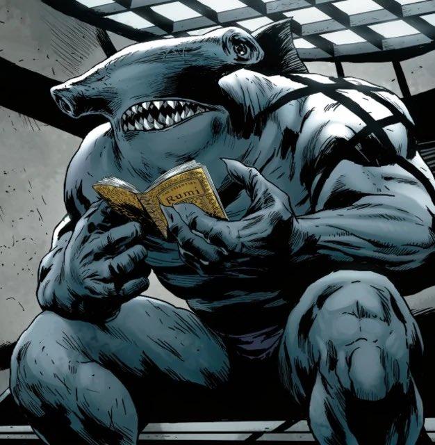 Por que o esquadrão suicida de James Gunn abandonou o visual do King Shark's Hammerhead 1
