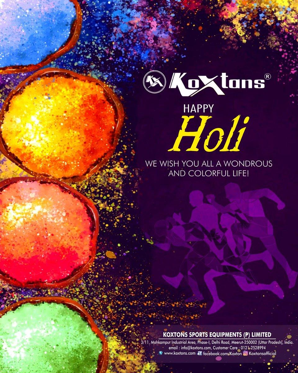 Happy Holi!  Koxtons family wishes you a colorful day and a vibrant life!  #koxtonsports #happyholi #holi2021 #holiwishes #sports #sportsequipment https://t.co/7jeSfmeatz