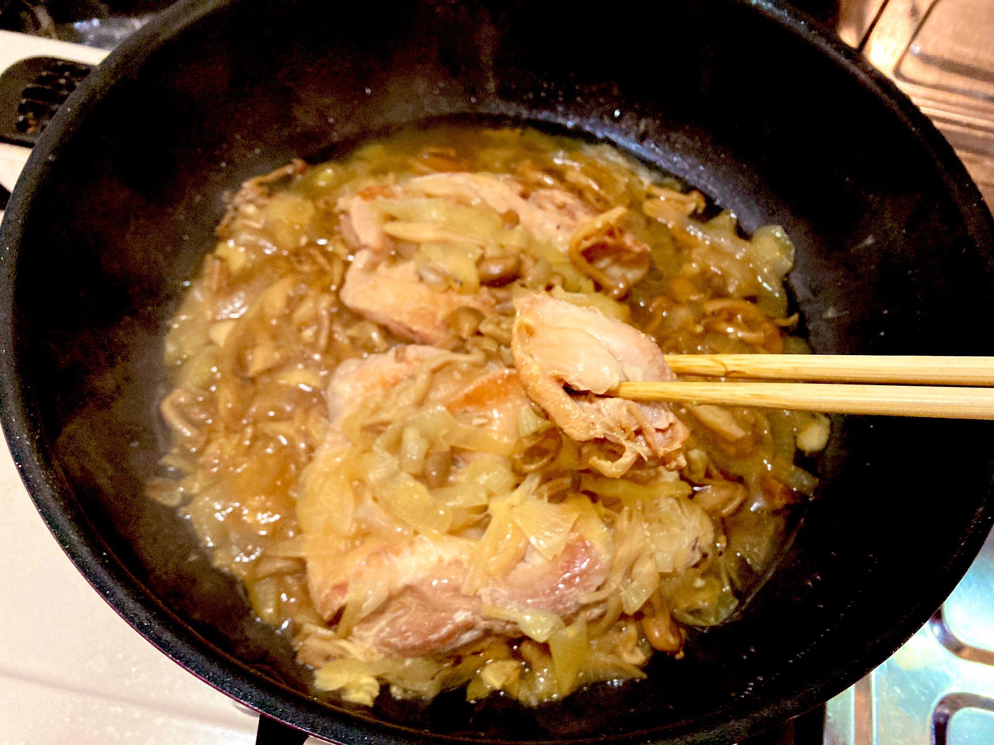 取り出すころには箸でほぐせる程度に柔らかいお肉に