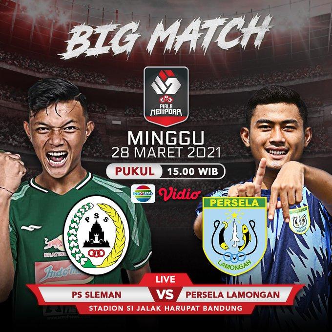 Duel PS Sleman vs Persela Lamongan, Minggu (28/3/2021) sore pukul 15.15 WIB