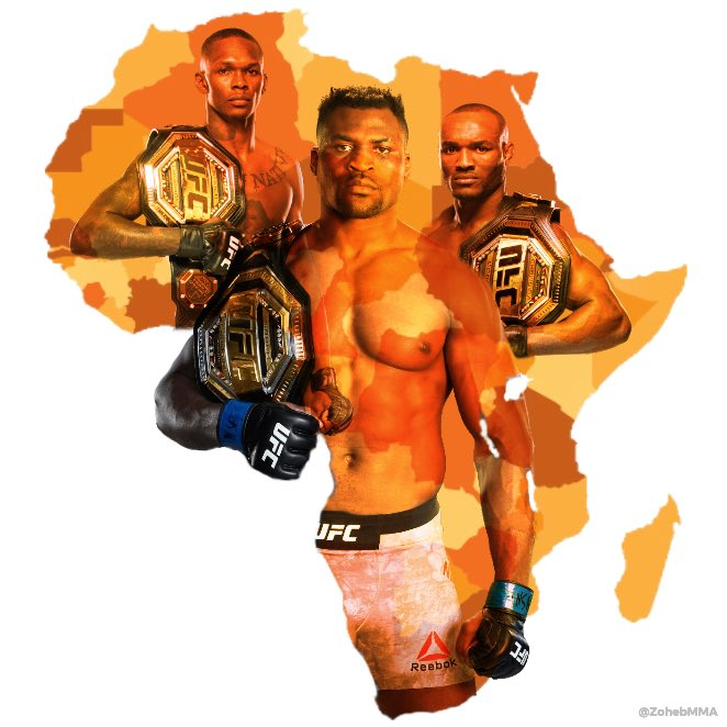 @francis_ngannou THREE AFRICAN CHAMPIONS OF THE WORLD. https://t.co/pDCUsUBHM3